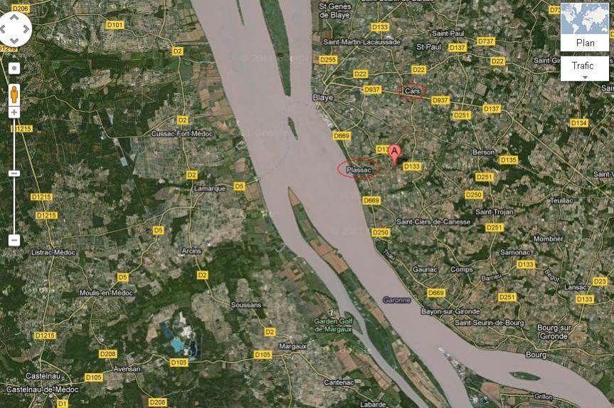 vue des vignes depuis un satellite