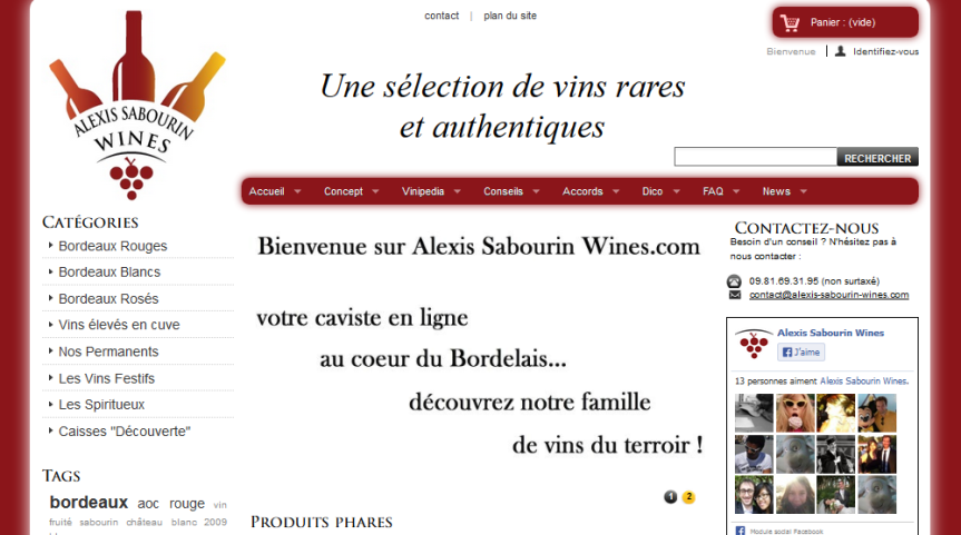 alexis sabourin wines site