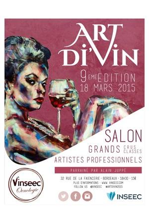 L'affiche du Salon Art Di'Vin 2015 - neuvième édition