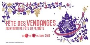 La belle affiche de la Fête des Vendanges de Montmartre.